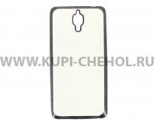 Чехол-накладка Xiaomi Mi4 Hallsen прозрачный с черными краями без логотипа