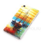 Чехол-накладка Sony L39H Xperia Z1 Живопись 7833
