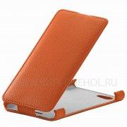 Чехол флип Sony Xperia E2 Dual Angell Case оранжевый