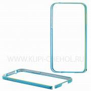 Бампер  металл  0.7mm  Samsung  G900  арт. 7721  голуб