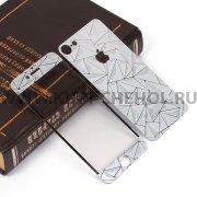 Защитное стекло Apple iPhone 7 4.7 декоративное 2в1 9440 серебристое
