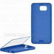 Чехол силиконовый Samsung Galaxy Alpha G850f Jasmine Slim 8226 тёмно - синий