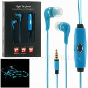 Наушники LED 8753 с микрофоном голубые