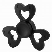 Спиннер металлический Сердце черный