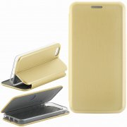 Чехол книжка Apple iPhone 5/5S/SE Fashion Case с визитницей золотой