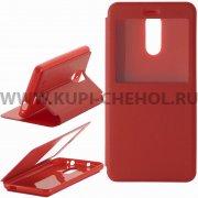 Чехол книжка Xiaomi Redmi Note 3 Book Case Time красный