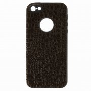 Чехол-накладка Apple iPhone 5/5S 10027 Рептилия коричневый