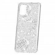 Чехол-накладка Samsung Galaxy A71 Kruche Print Skull White