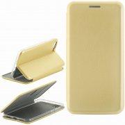 Чехол книжка Asus Zenfone 4 Max ZC520KL Fashion Case с визитницей золотой