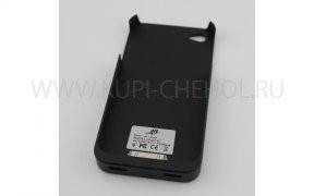 Чехол для беспроводного З/У 1400W Apple iPhone 4 / 4S Black