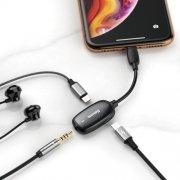 Аудио-переходник для iPhone 3-in-1 Baseus L51 Black