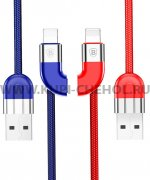 USB Apple iPhone 5 Baseus CALFD-39 Blue+Red 1м