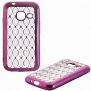 Чехол-накладка Samsung Galaxy J1 mini 8438 темно - розовый