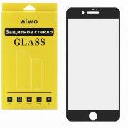 Защитное стекло Apple iPhone 7 Aiwo Full Screen чёрное матовое 0.33mm