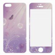 Защитное стекло Apple iPhone 5/5S/5c/SE DF 2в1 Butterfly 0.33mm