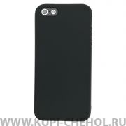 Чехол-накладка Apple iPhone 5/5S черный матовый 0.8mm