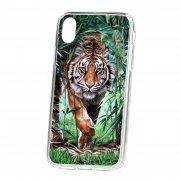 Чехол накладка для телефона iP XR Kruche Print Крадущийся тигр
