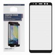 Защитное стекло Samsung Galaxy A8 2018 (A530) Red Line Full Screen черное 0.33mm