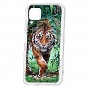 Чехол-накладка Huawei P40 Lite Kruche Print Крадущийся тигр