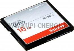 CompactFlash 16Gb к/п SanDisk Ultra