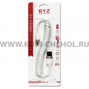 USB - micro USB кабель Byz BL-655 White 1.5m