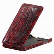 Чехол  откид  HTC Des 400 Dual  Brauffen  A056  красн