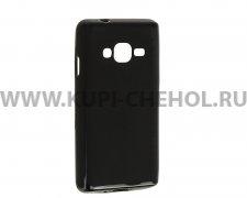 Чехол-накладка Samsung Z2 X черный матовый 0.8mm