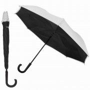 Двусторонний зонт WK WT-U1 Black/Silver