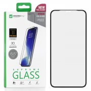 Защитное стекло iPhone XS Max/11 Pro Max Amazingthing SupremeGlass Hybrid 3D Black 0.2mm