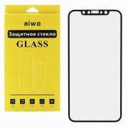 Защитное стекло Apple iPhone X Aiwo Full Screen черное матовое 0.33mm