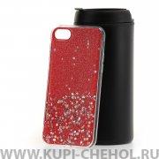 Чехол-накладка Apple iPhone 7/8 Конфетти красный