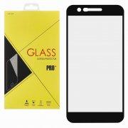 Защитное стекло LG K10 2018 Glass Pro Full Screen чёрное 0.33mm