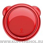 Кольцо-держатель Baseus Bear Red