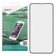 Защитное стекло iPhone XS Max/11 Pro Max Onext Full Glue чёрное 0.3mm