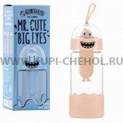 Стеклянная бутылка WK Mr.Cute Big WT-CUP06 Pink