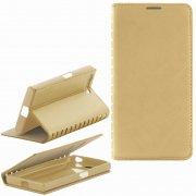 Чехол книжка Sony Xperia X Compact New Case 001 золотой