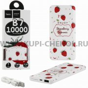 Power Bank 10000 mAh Hoco B7 Fruit - style Strawberry.