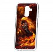 Чехол-накладка Samsung Galaxy A6 Plus (2018) A605f/J8 2018 Kruche Print Конь огонь