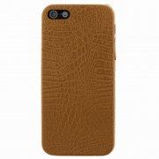 Чехол-накладка Apple iPhone 5/5S/SE Рептилия 9513 желтый