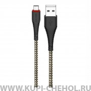 Кабель USB-Micro Borofone Black 1m 2.4A
