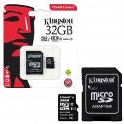 Micro SD 32Gb Class 10 к/п Kingston UHS-I U1 80Mb/s+адаптер