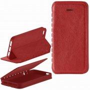 Чехол книжка Apple iPhone 5/5S New Case 001 красный