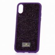 Чехол-накладка Apple iPhone X Swarovski Кристаллы Purple