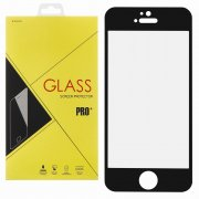Защитное стекло Apple iPhone 5/5S/5c/SE Glass Pro Full Glue чёрное 0.33mm