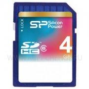 SD 4Gb class 6 к/п Silicon