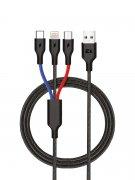 Кабель Multi USB-iP+Micro+Type-C Exployd Sonder Black 1.2m
