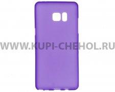 Чехол силиконовый Samsung Galaxy Note 7 фиолетовый матовый