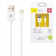 Кабель USB-iP Baseus CAAPIPH5-LH02B1 Symmetric White 2m