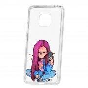 Чехол-накладка Huawei Mate 20 Pro Kruche Print Pink Hair