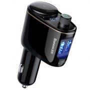 Разветвитель АЗУ-1АЗУ+2USB+Bluetooth/FM модулятор Baseus CCALL-RH01 Black